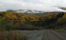 Bývalý železniční most pro odvážení vytěžené mědi z Copper Valley v dnešním Wrangell-St. Elias NP