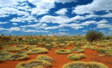 Australská poušť ve vnitrozemí