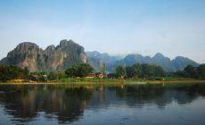 Laos – homole ve Vang Vieng