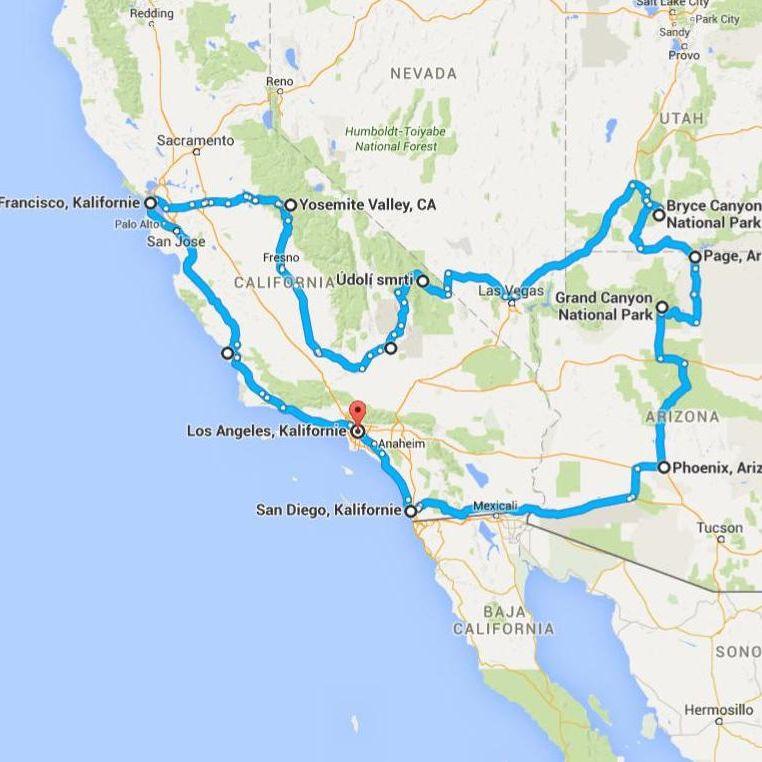 Cesta Zapadnim Pobrezim A Parky Usa Jedu Cz